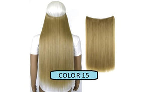 Invisible Halo Hair Extensions, Straight (24 in, 59 cm) Healthier Lifestyle For You 15 - Light ash blonde mix Bleach blonde