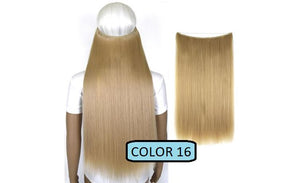 Invisible Halo Hair Extensions, Straight (24 in, 59 cm) Healthier Lifestyle For You 16 - Light honey blonde