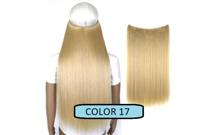 Invisible Halo Hair Extensions, Straight (24 in, 59 cm) Healthier Lifestyle For You 17 - Light honey blonde mix Bleach blonde