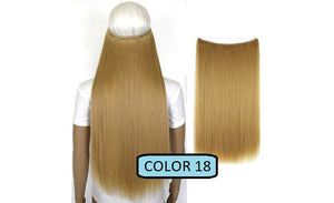 Invisible Halo Hair Extensions, Straight (24 in, 59 cm) Healthier Lifestyle For You 18 - Light golden blonde