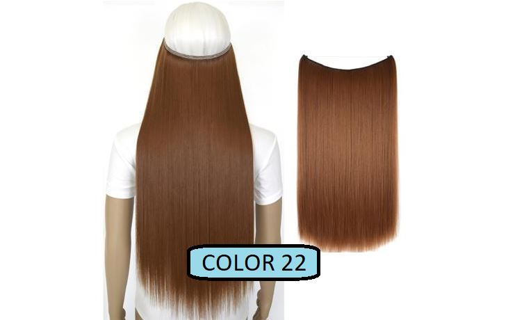 Invisible Halo Hair Extensions, Straight (24 in, 59 cm) Healthier Lifestyle For You 22 - Copper red