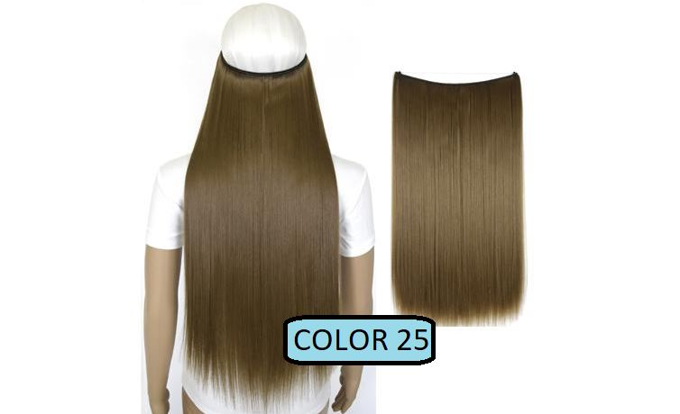 Invisible Halo Hair Extensions, Straight (24 in, 59 cm) Healthier Lifestyle For You 25 - Straw ash