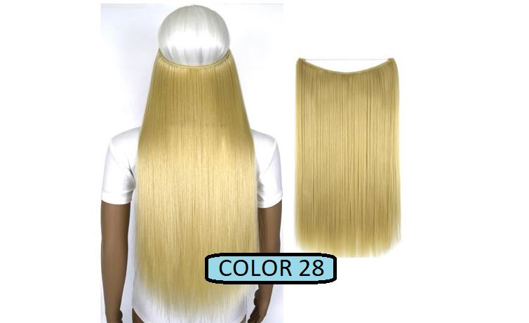 Invisible Halo Hair Extensions, Straight (24 in, 59 cm) Healthier Lifestyle For You 28 - Bleach blonde