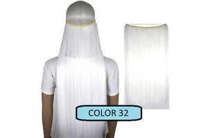 Invisible Halo Hair Extensions, Straight (24 in, 59 cm) Healthier Lifestyle For You 32 - Snow white