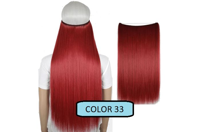 Invisible Halo Hair Extensions, Straight (24 in, 59 cm) Healthier Lifestyle For You 33 - Light red