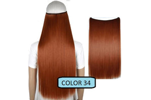 Invisible Halo Hair Extensions, Straight (24 in, 59 cm) Healthier Lifestyle For You 34 - Orange red