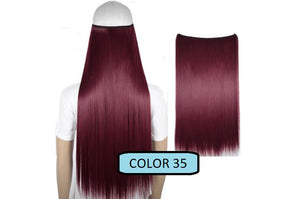 Invisible Halo Hair Extensions, Straight (24 in, 59 cm) Healthier Lifestyle For You 35 - Light burgundy red