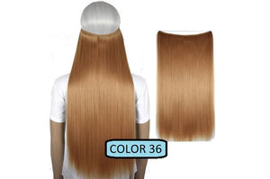 Invisible Halo Hair Extensions, Straight (24 in, 59 cm) Healthier Lifestyle For You 36 - Bleach copper red