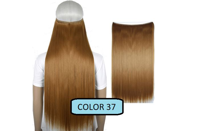 Invisible Halo Hair Extensions, Straight (24 in, 59 cm) Healthier Lifestyle For You 37 - Light brown