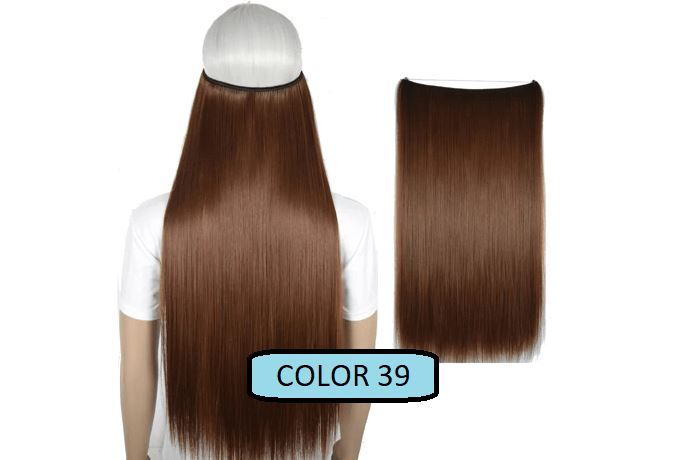 Invisible Halo Hair Extensions, Straight (24 in, 59 cm) Healthier Lifestyle For You 39 - Medium auburn