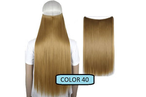 Invisible Halo Hair Extensions, Straight (24 in, 59 cm) Healthier Lifestyle For You 40 - Light golden brown