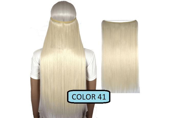 Invisible Halo Hair Extensions, Straight (24 in, 59 cm) Healthier Lifestyle For You 41 - Platinum blonde