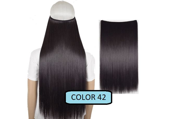 Invisible Halo Hair Extensions, Straight (24 in, 59 cm) Healthier Lifestyle For You 42 - Dark chocolate brown