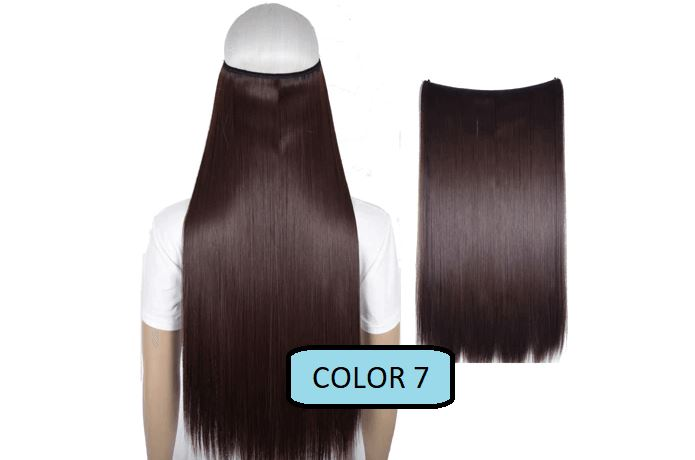 Invisible Halo Hair Extensions, Straight (24 in, 59 cm) Healthier Lifestyle For You 7 - Chocolate brown