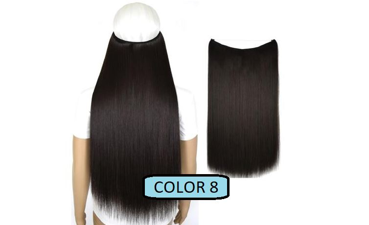 Invisible Halo Hair Extensions, Straight (24 in, 59 cm) Healthier Lifestyle For You 8 - Medium brown