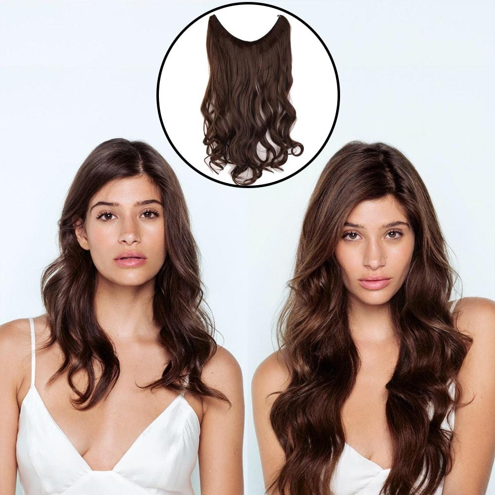 Invisible Halo Hair Extensions, Wavy (22 in, 55 cm) Healthier Lifestyle For You