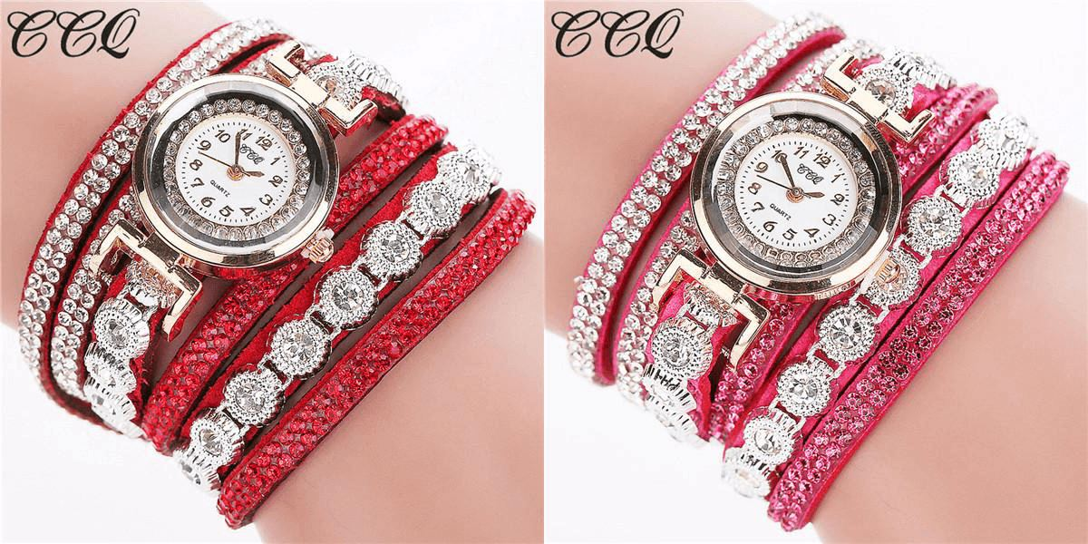 Premium Bracelet Watch Watch Healthier Lifestyle 4 All Red