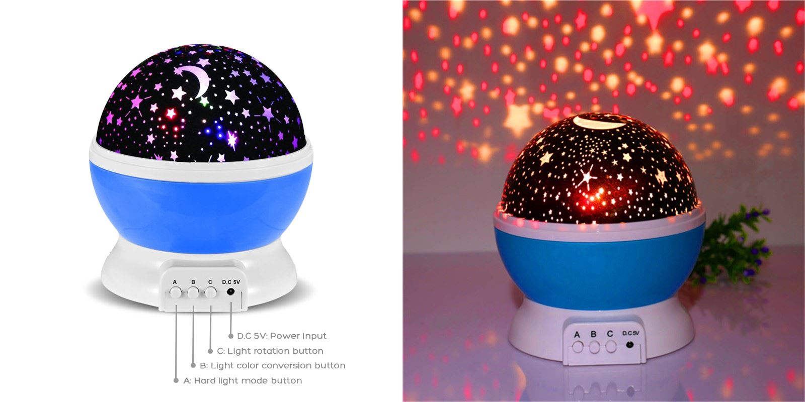 Star Night Light Healthier Lifestyle 4 All Blue