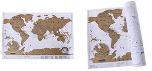 World BIG Travel Scratch Off Map (82x58cm) Fit Lifestyle For You