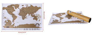 World MINI Travel Scratch Off Map (42x30cm) Fit Lifestyle For You