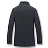 Dark Gray Casual Winter Jacket