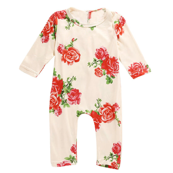 2017 Newborn Baby Girl Clothes Cotton Baby Girl Boy Romper Cotton Long Sleeve Unisex Infant Clothing