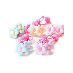 10pcs Women Girls Elastic Ponytail Holders Hair Tie Rope Rubber Bands