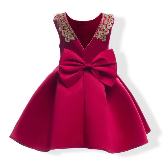 Child Girls Princess Dress Kids Party Flanger Wedding Bridesmaid Formal Dresses