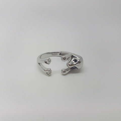 Sterling Silver 925 Dog  Ring