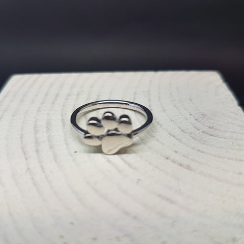 Sterling Silver 925 Dog Paw Ring