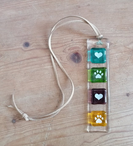 Suncatcher with Hearts & Paws