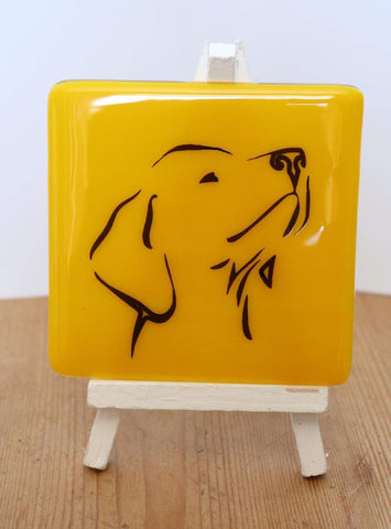 Fused Glass Labrador Coaster