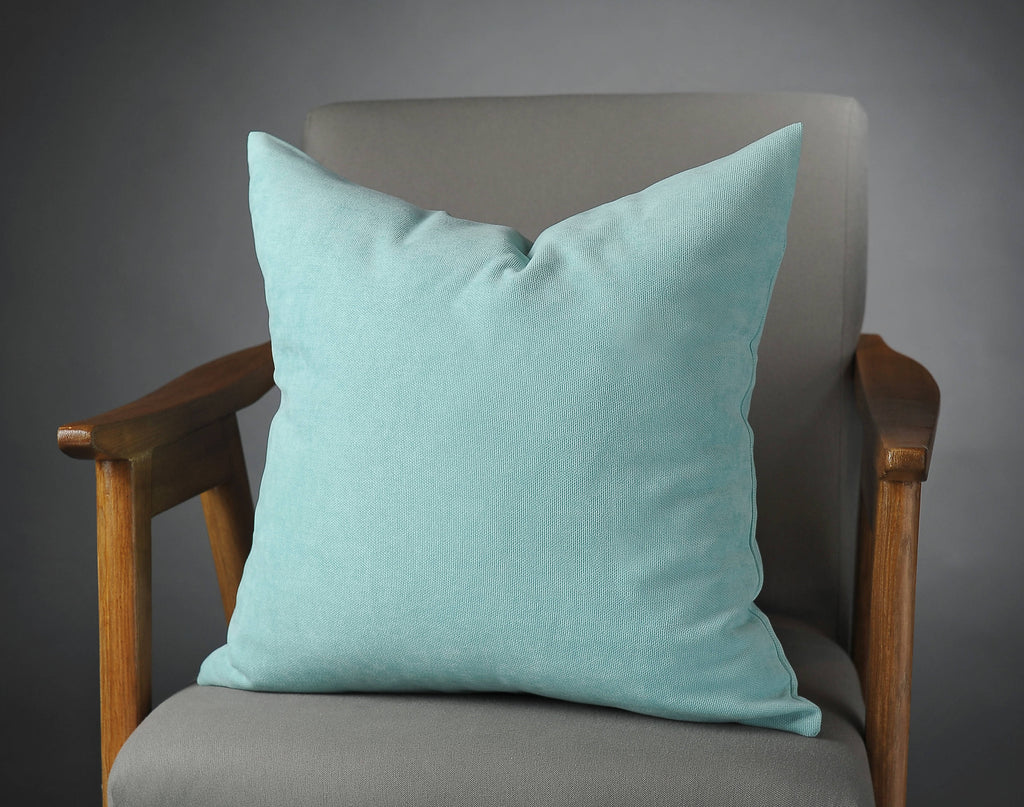 Aqua Velvet Pillow, Throw Pillows, Throw Pillow Covers, Decorative Pillow  Covers, Couch