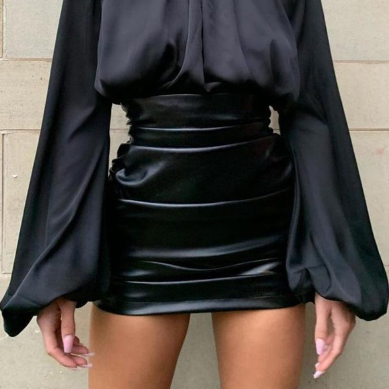 Orlando Faux Leather Skirt