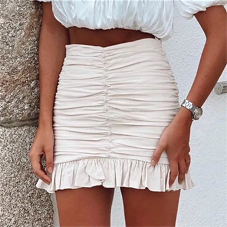 Provo Ruched Mini Skirt