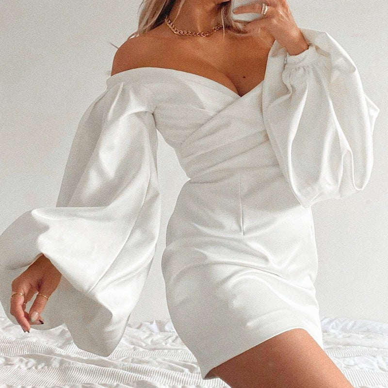Frill Satin Dress