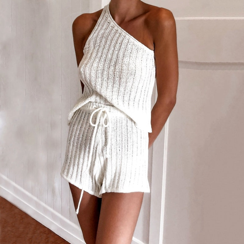 Lauren Knitted Two-Piece Romper