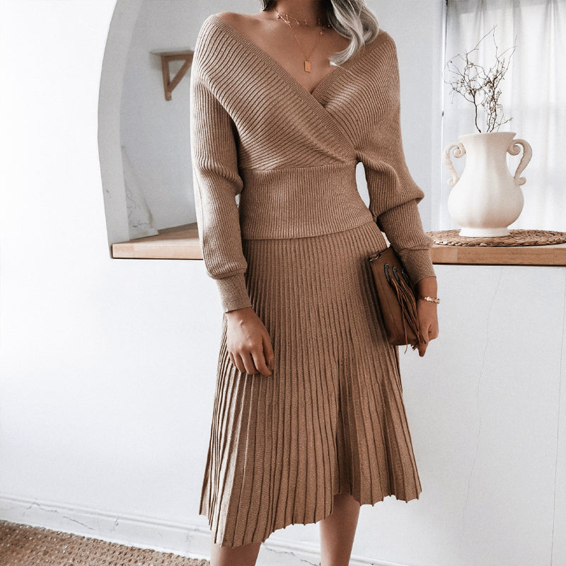 Vance Knitted Two Piece Dress