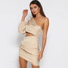 Maje One Shoulder Dress
