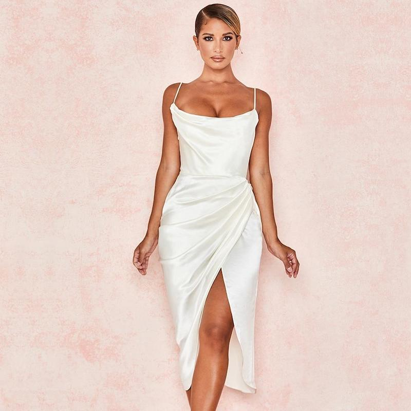 Fionne Midi Satin Dress