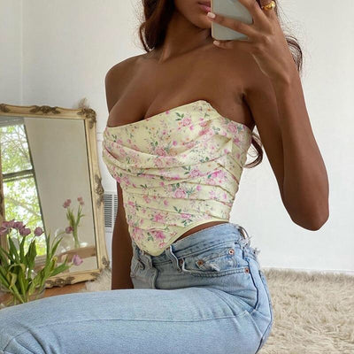 Kava Floral Tube Top