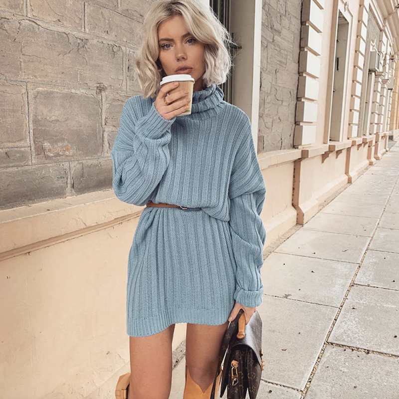 Petunia Turtleneck Knitted Dress