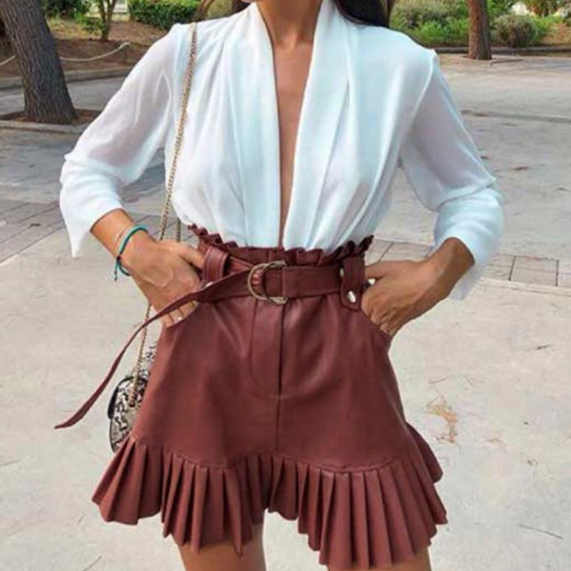 London Faux Leather Skirt