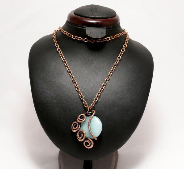 Handmade Wire Wrap Aventurine Pendant Necklace – Violets Collections