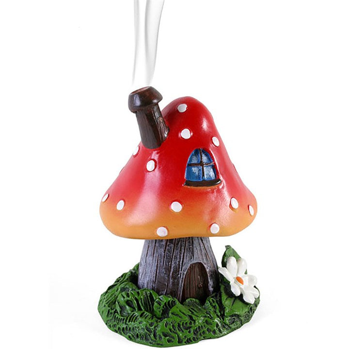 Red Smoking Toadstool Incense Cone Holder - Scentiments