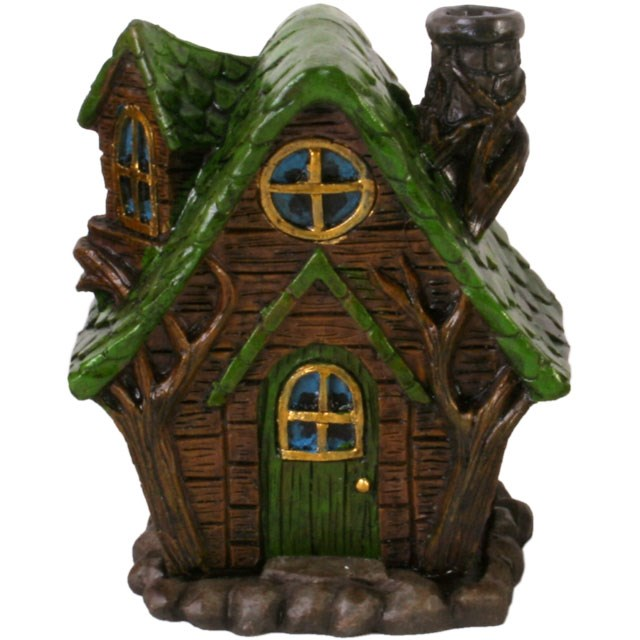 Green Fairy House Incense Cone Holder | Incense Cone Burner | Scentiments | Scentiments