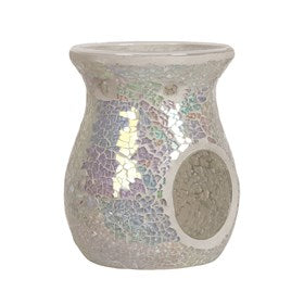 Pearl Crackle Tea Light Burner