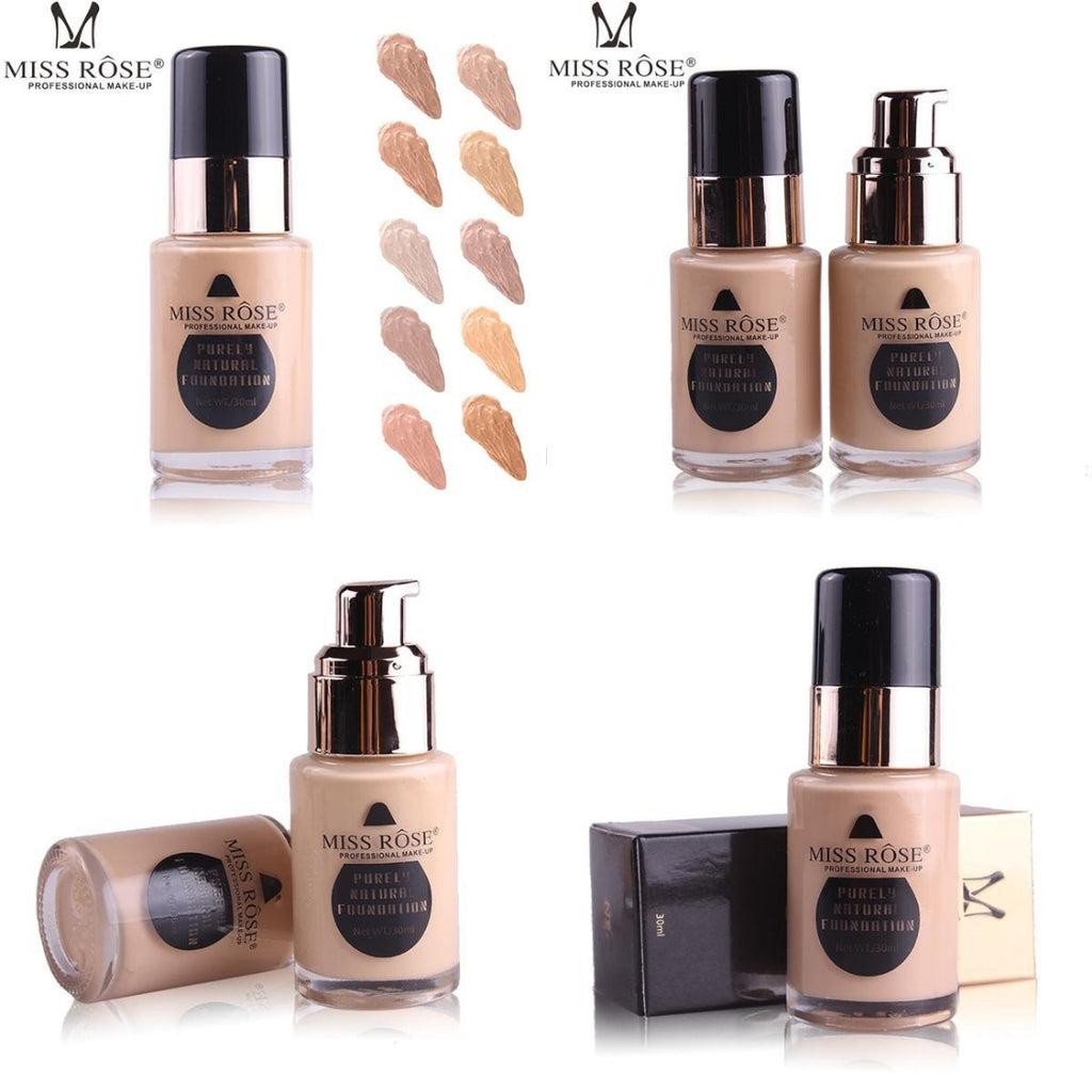 Buy Miss Rose Oil Free Liquid Foundation Online - fredefy