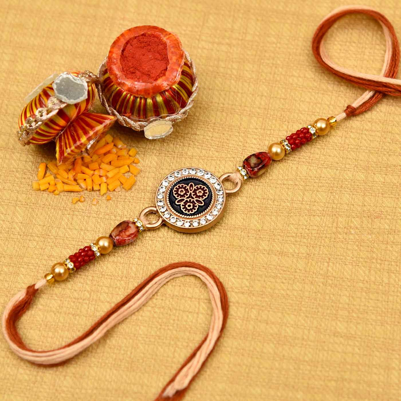Beautiful Circular AD Rakhi
