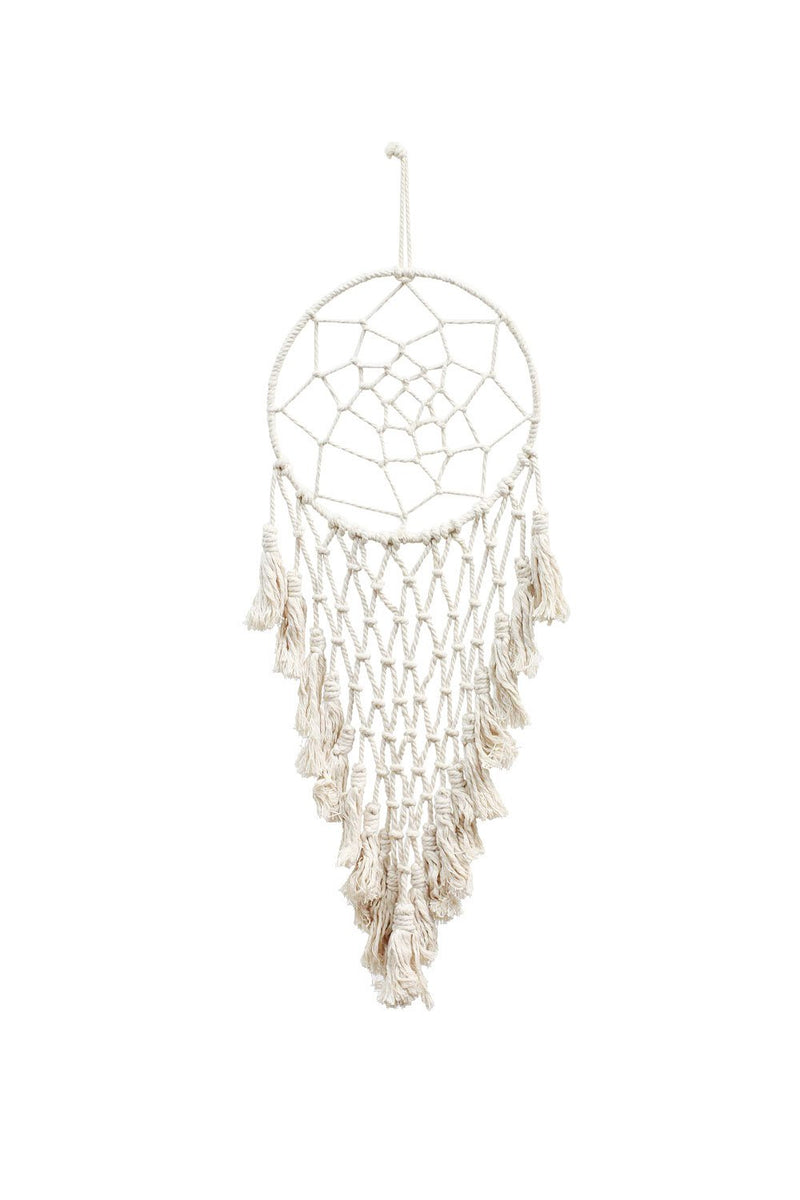 "Soul of the Party - Macrame Dreamcatcher 10"" x 33"""